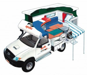 Apollo 2 berth 4wd poptop campervan