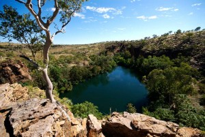 Northeast Australian outback cliff edge