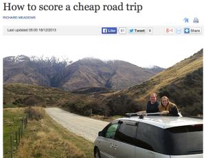 NZ free car rental with Transfercar