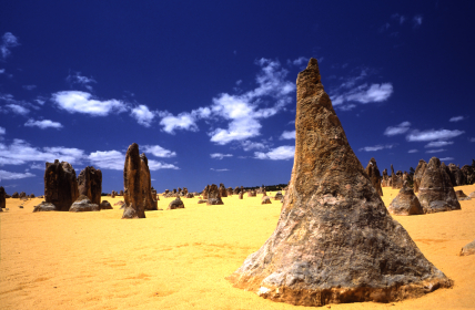 Pinnacles in the outback of Western Australia