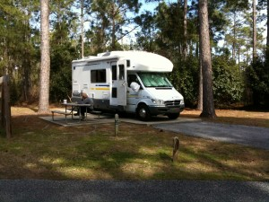 Motorhome in the park