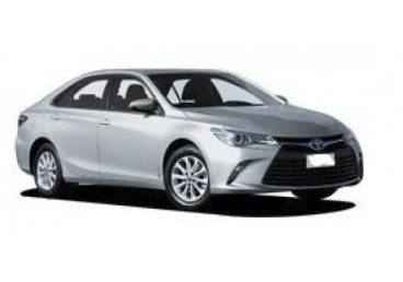 The Toyota Camry is the perfect choice for travelers requiring a late model, roomy rental car. With enough room for 5 adults, 3 large and 2 small suitcases, this vehicle is an ideal choice for two couples travelling together, or a large family group